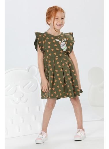 Lupiakids Tavşan Kalp Desenli Kız Elbise Renkli